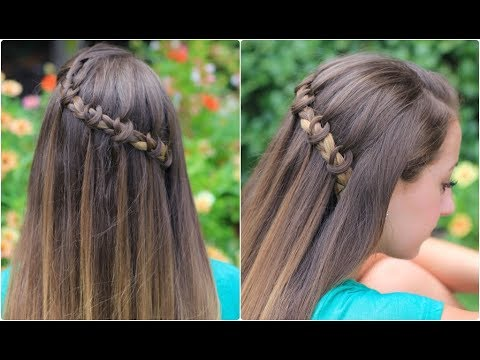 knotted waterfall braid cute