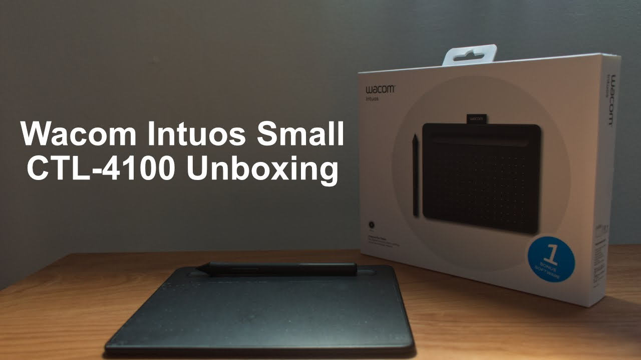 Unboxing Wacom Intuos S CTL-4100 - How to Install The Driver & Get The Free  Software (2020) - YouTube