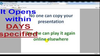 powerpoint presentation ppt html5 mobile set expiry date protection security