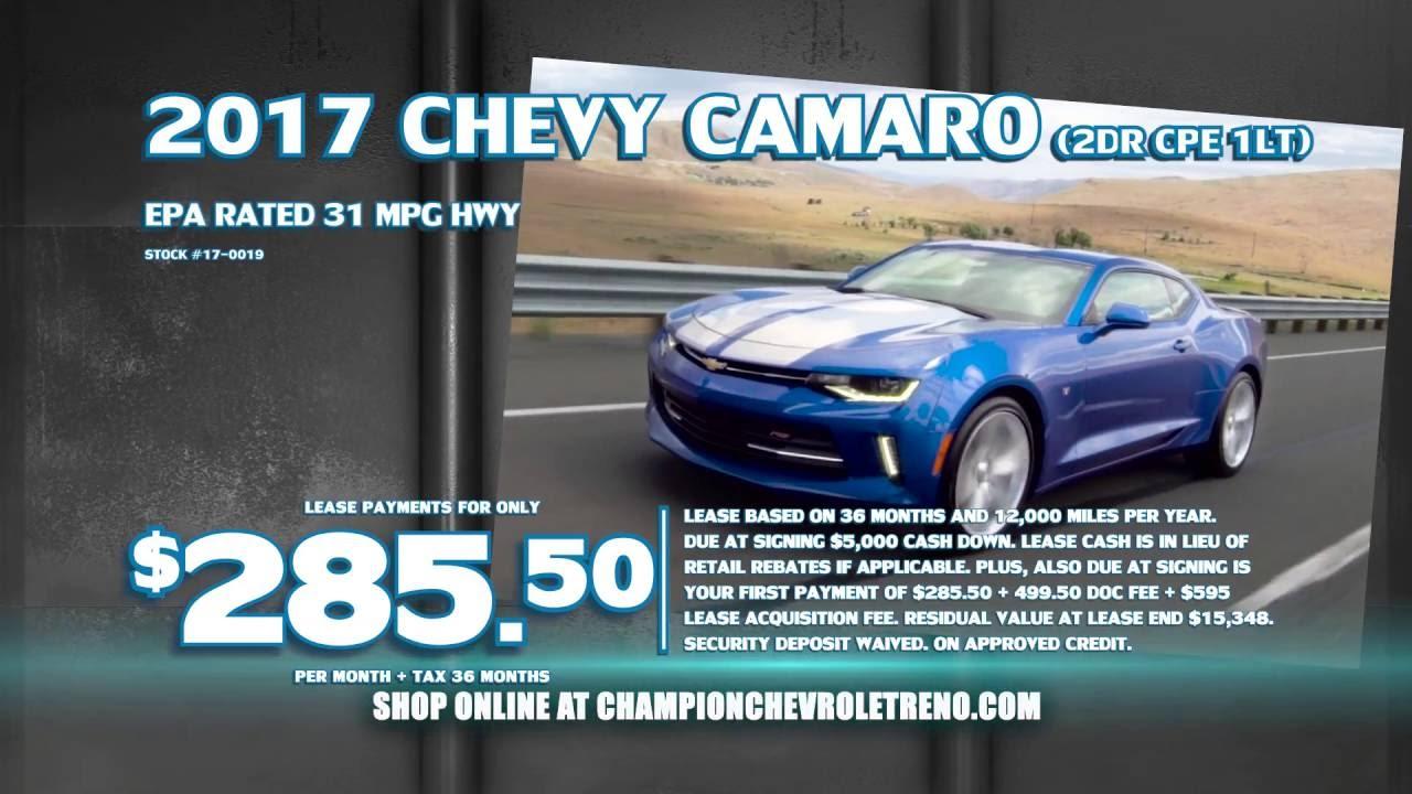 Lease A 2017 Chevrolet Camaro Champion In Reno