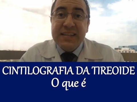 Exame de cintilografia da tireoide