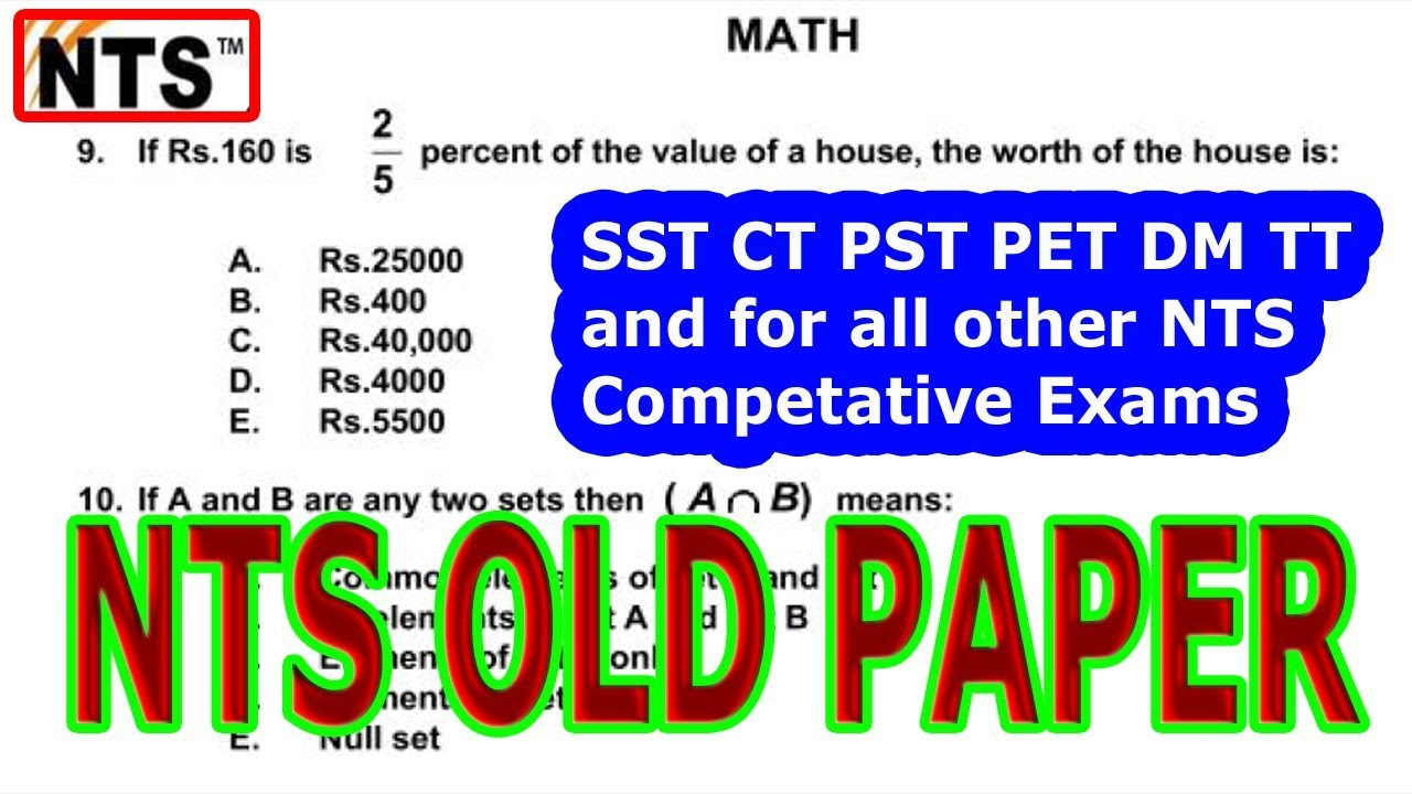 How to get 100% marks in NTS Test  Past solved papers