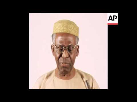 SYND 14 12 79 UPN PARTY CHIEF OBAFEMI AWOLOWO ATTENDS CONVENTION