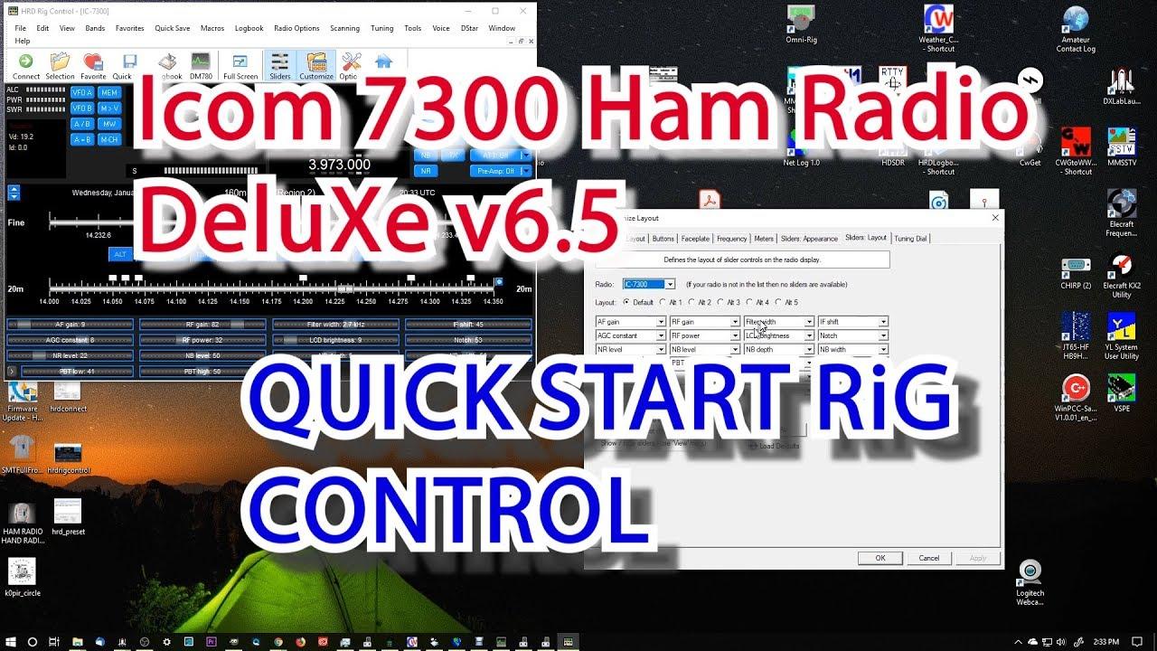 Icom 7300 Ham Radio Deluxe v6 5 Rig Control Quick Start