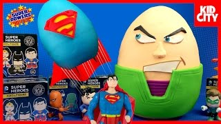 Justice League Toys Play-Doh Surprise Egg with Batman Toys & Superman | KIDCITY | KidCity