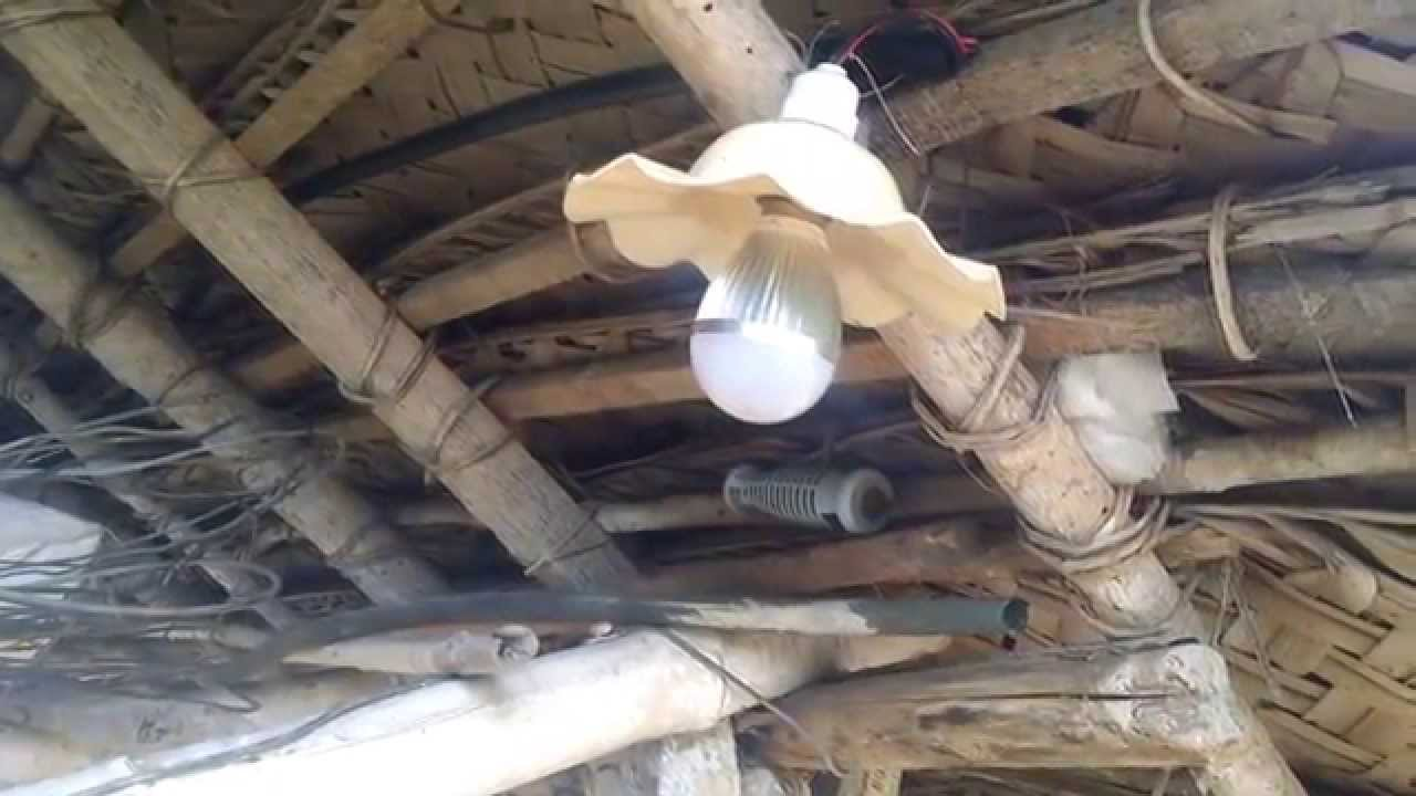 Simple Solar Power Project To Light Your Farm Cow Shed