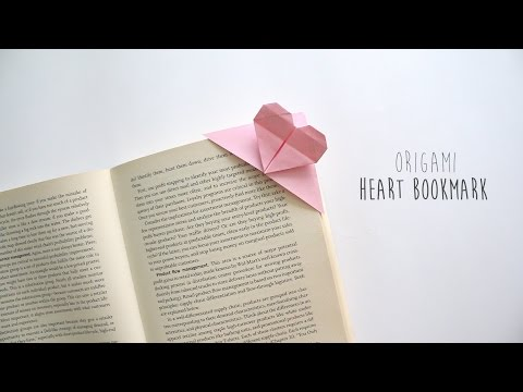 DIY: Origami Heart Bookmark