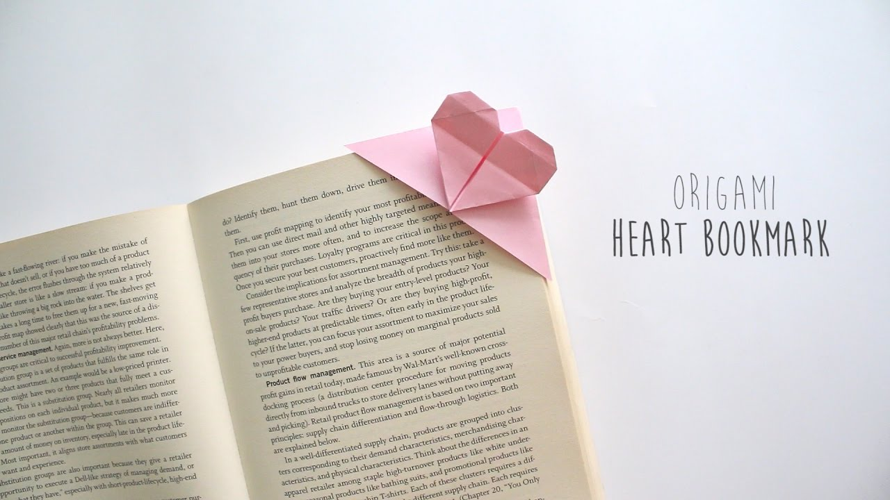 Cute Origami Heart Bookmark for Valentine's Day - That Kids' Craft ... | 720x1280