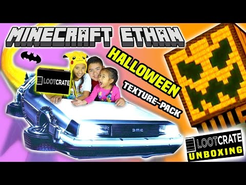 LETS PLAY MINECRAFT HALLOWEEN Mash-up World And LOOTCRATE UNBOXING