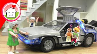 Playmobil Film Familie Hauser in der Zukunft - DeLorean Back to Future Video für Kinder