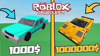 NAJTAŃSZY VS NAJDROŻSZY SAMOCHÓD! Roblox (Vehicle Simulator ) - [MARATON 6/10] /w karolek