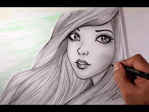 Desenhando Menina De Cabelos Liso Arteeciabrasil Youtube