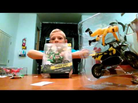Dirt bike toys that are really cool yellow red and