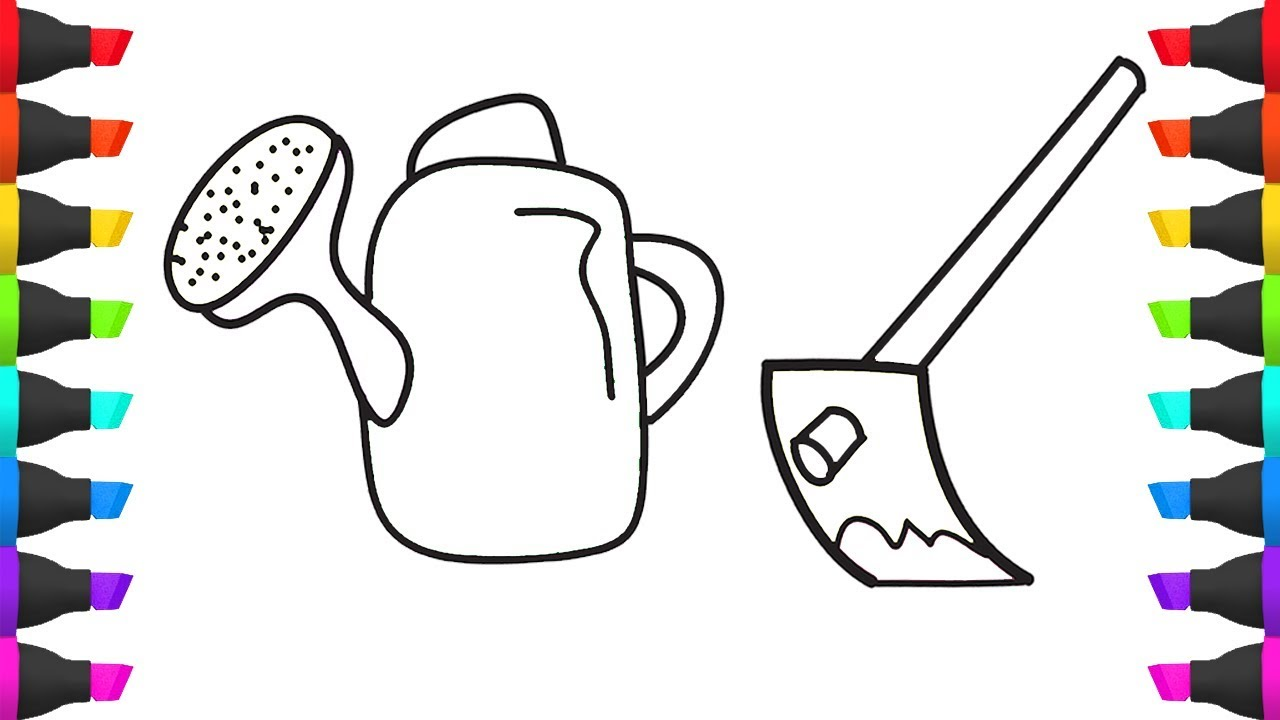 Colouring Pages Of The Farmer's Tools