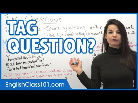 How to Make Tag Questions? Ask Questions in English - Basic English Grammar