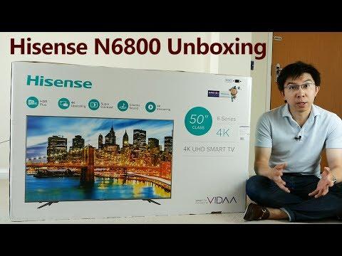 Hisense N6800 4K HDR TV Unboxing + Picture Settings