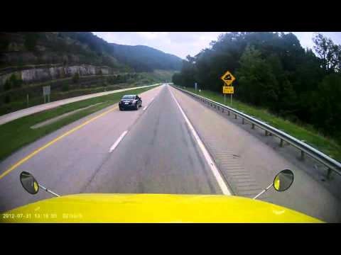 Mountain driving in West Virginia