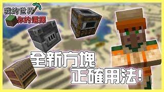 【Minecraft 1.14】新方塊正確用法--我的世界你的選擇#2【殞月】《當個創世神》
