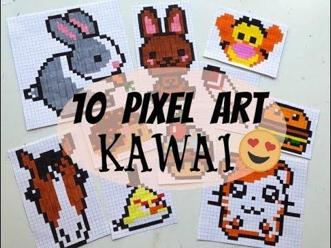Tuto 10 Petits Pixel Art Kawai Et Faciles