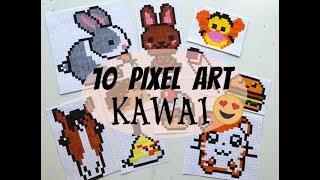 Tuto 10 Petits Pixel Art Kawai Et Faciles Youtube