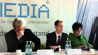 Pressekonferenz IT&Media 01.02.2012 Ausschnitt: Michael Mattis (Veranstalter der IT&Media 2012)