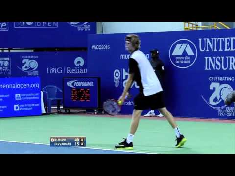 #ACO2016 Rublev vs Devvarman