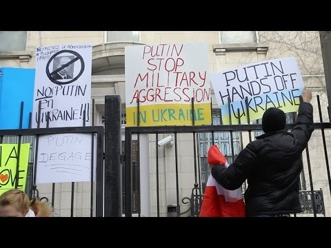 Video: Montreal demonstration against Russia in Ukraine