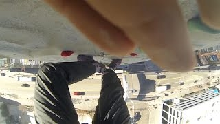 Climbing the Tallest building in california (almost slipped lol)