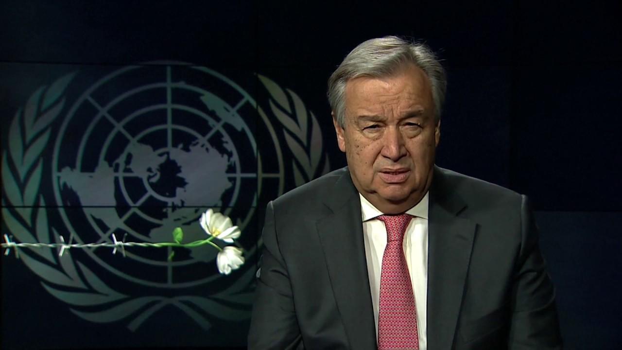 Mensagem secretário-geral António Guterres sobre Dia em Memória Vítimas Holocausto