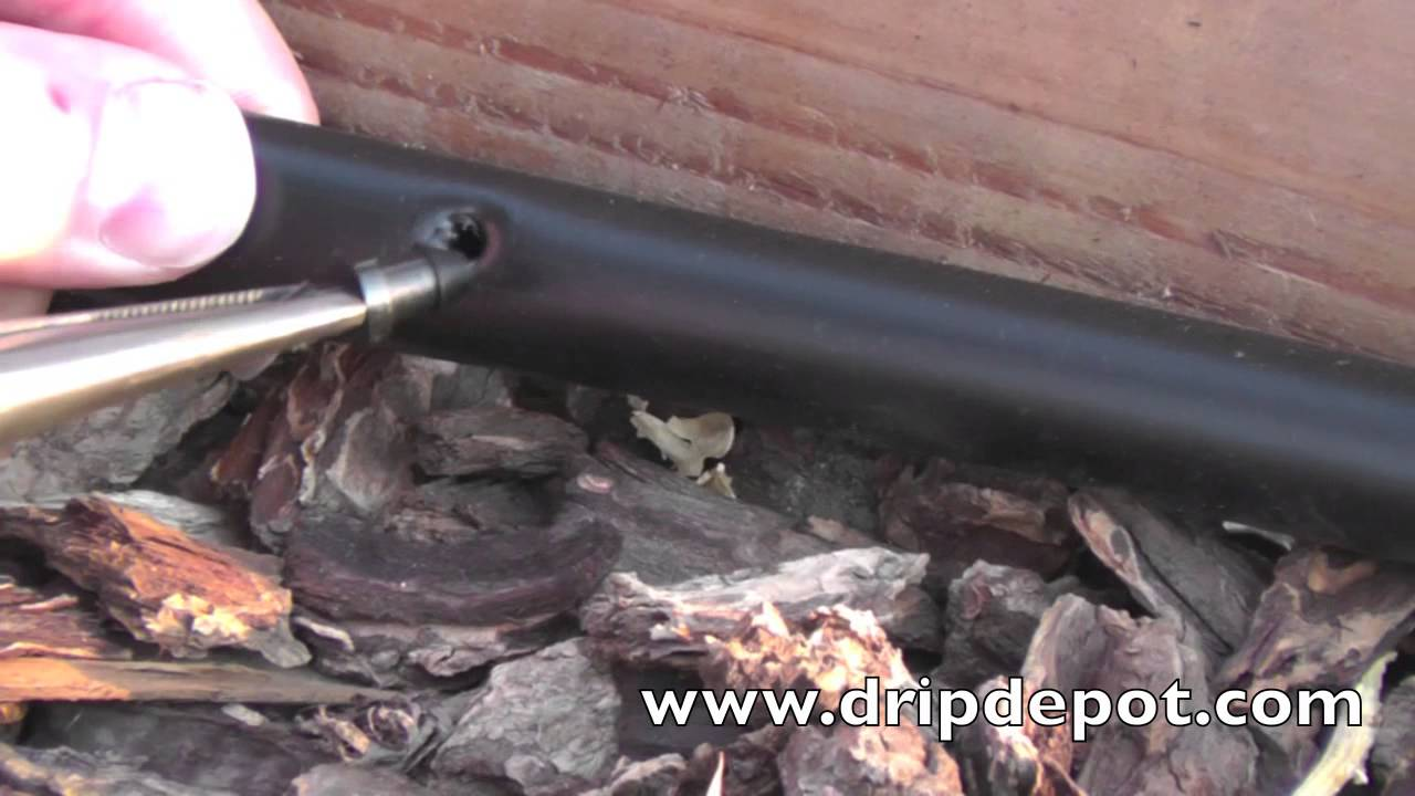 How To Repair Holes in Drip Irrigation Tubing - YouTube