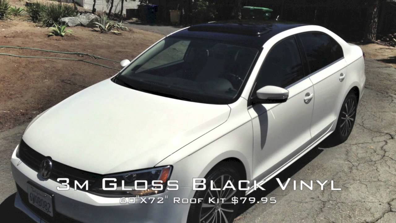 2012 Vw Jetta 3m Gloss Black Vinyl Roof Installed Youtube