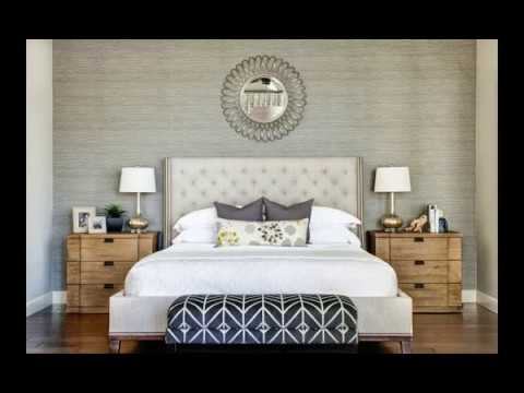 Modern Master Bedroom Ideas With Beautiful Wallpaper Accent Wall ...