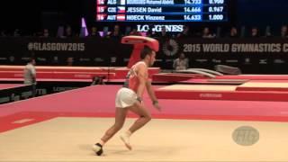 ANGELOV Martin (BUL) - 2015 Artistic Worlds - Qualifications Floor Exercise