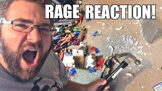 RAGING FAT MAN SMASHES WWE TOYS in REACTION TO WRESTLING MATCH!
