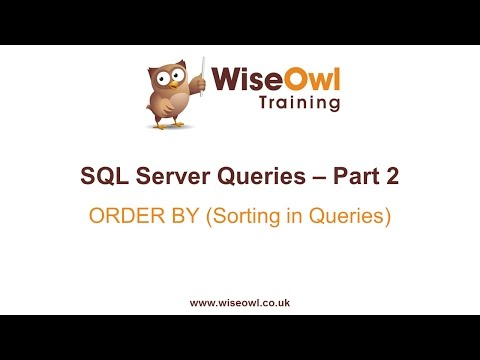 SQL Server Queries Part 2 - ORDER BY (Sorting in Queries)