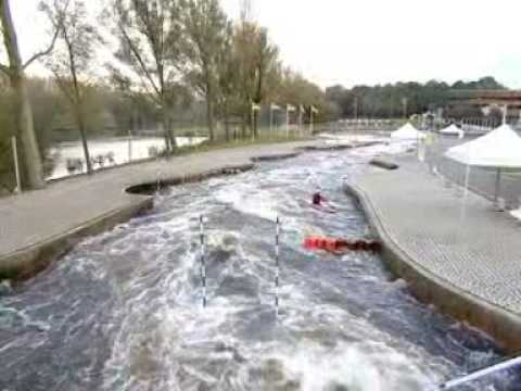 Reportage over kano slalom varen met robert bouten