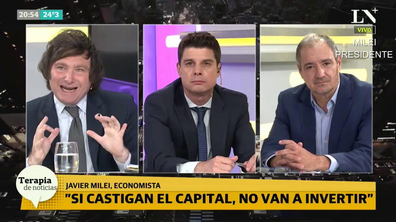 """""""El político argentino es un chorro"""" Milei opina sobre el nuevo impuesto a la riqueza-17/11/20"""