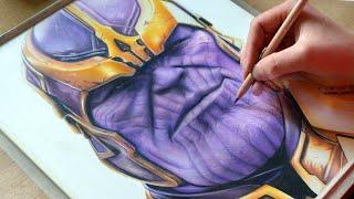 Drawing THANOS - Avengers : Infinity War - Nimauke