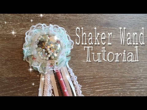 How to make a Shaker Wand using clear ornaments