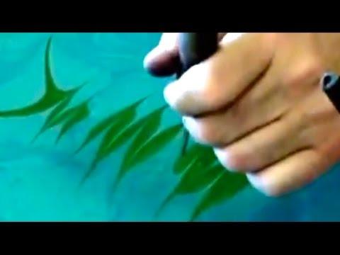 Beautiful Ebru Art: Paint a Flower with Paper marbling technique!
