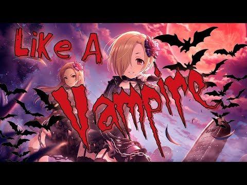 Nightcore - Like A Vampire (Lyrics)