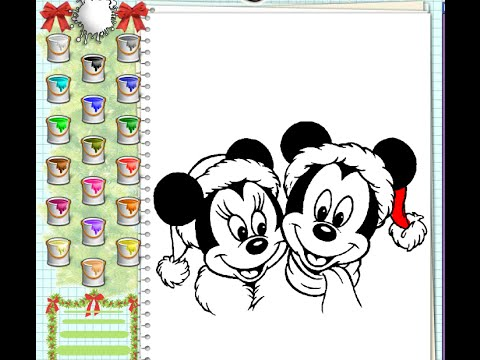 mickey painting games mickey mouse christmas coloring pages