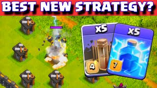 Clash of Clans BEST ATTACK STRATEGY AFTER NEW UPDATE? | MAXED LEVEL 7 LIGHTNING SPELL GAMEPLAY
