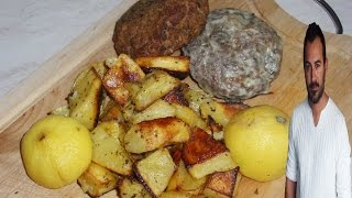 Live Your Myth With Greek Food : Greek Burgers With Roasted Potatoes