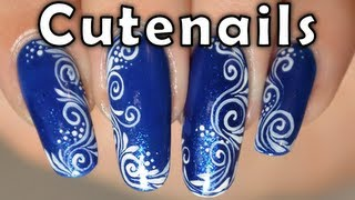 Easy nail art tutorial : Spirals and arabesques design on nails