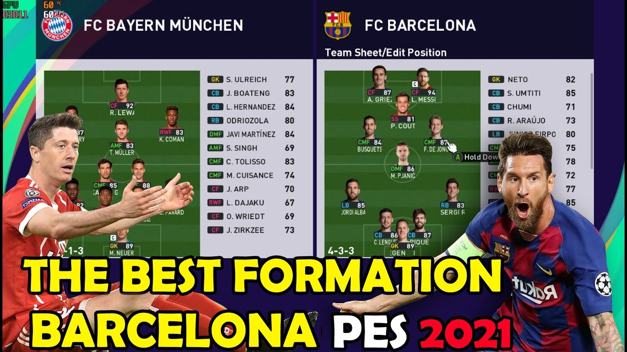 The Best Formation Barcelona Pes 2021 Youtube