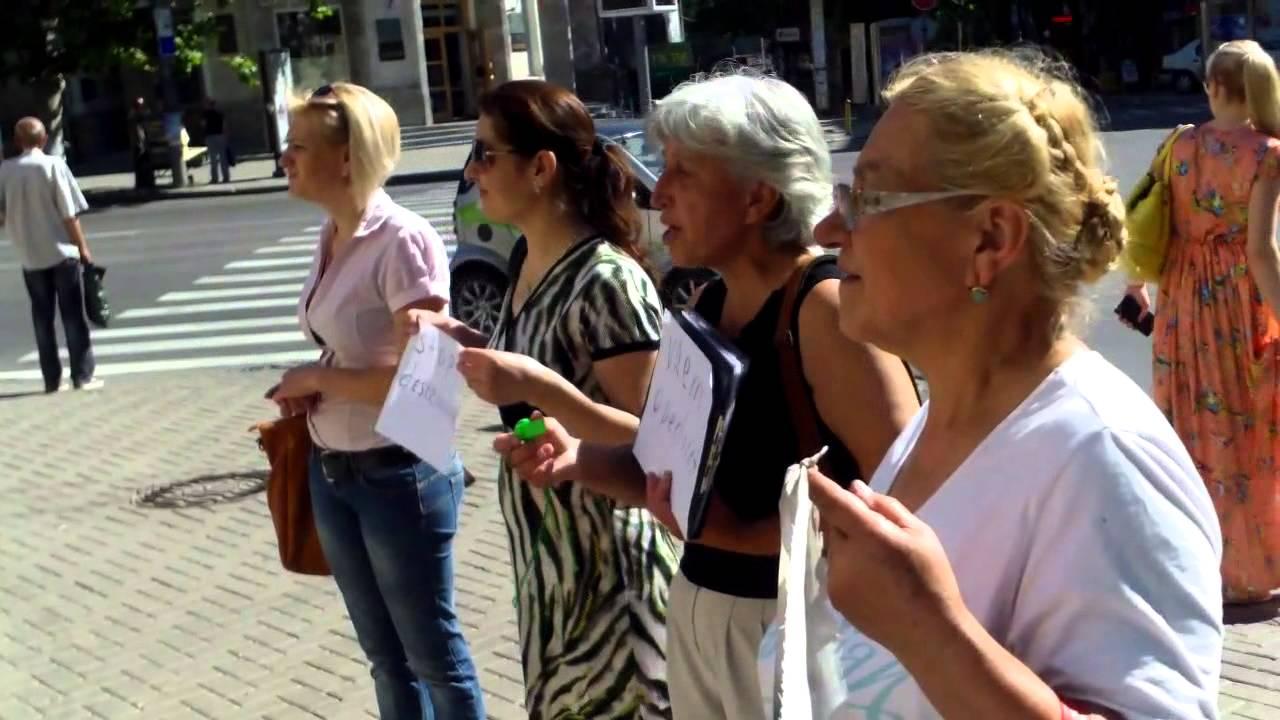 Vrem apeduct la Durlești, protest la Primăria Chișinău