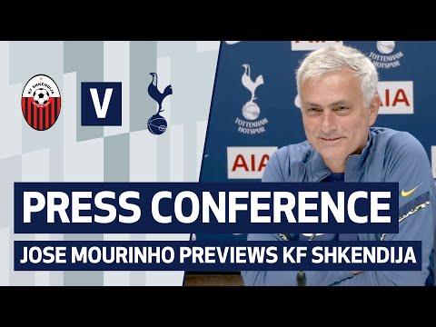 PRESS CONFERENCE   JOSE MOURINHO PREVIEWS KF SHKENDIJA