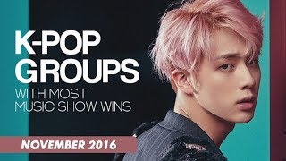K-POP GROUPS WITH MOST MUSIC SHOW WINS | November 2016 - Stafaband