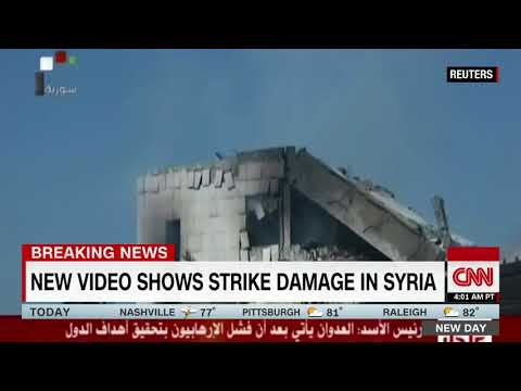 [HD]CNN Breaking News : First look at damage on the ground in Syria 4/14/2014 7:06 AM PDT